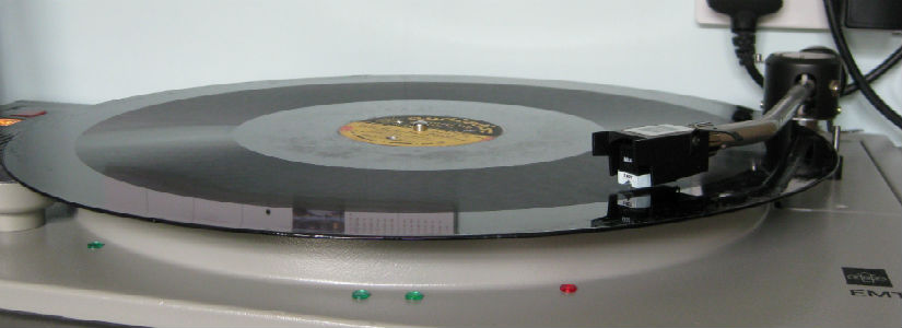 "16"" BBC Transcription Disc on EMT 950 Deck"