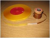 Leader tape sliced on