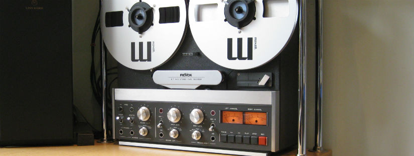 Studio reel transcription on Revox B77 deck