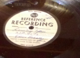 Acetate of 'Loving You' from 1957